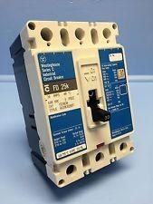 100 Amp FD 25 K Westinghouse Series C Industrial Circuit Breaker