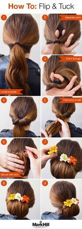 A fun updo that's simple but looks great – especially …