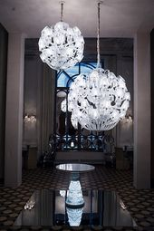 Le Roi Soleil Chandelier And The New Antique Table By Marcel Wanders For Baccarat Image Courtesy Espressoblog Pinterest