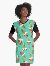 Ananas Lustig Grafikart Design Pineapple T-Shirt Kleid – #ananas #design #grafikart #kleid #lustig