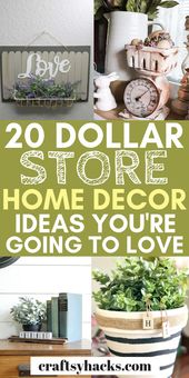 20 Dollar Store Home Decor Ideas You're Going to Love