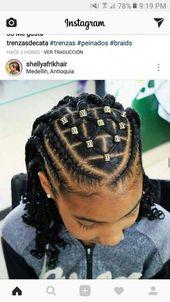 Pour le dessous de updo #hairbraidsforkids   – Braids for kids – #braids #de #de…