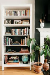How to Style a Bookshelf When You Have a Lot of Books