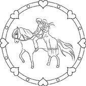 Pferde Und Ponys Gratis Mandalas Als Ausmalbilder Fur Kinder Mandala Pferd Ausmalbilder Ausmalbilder Kinder
