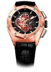 Cvstos Challenge-R50 HF Concept Men's Watch, Red Gold, Black Movement, Nitril Strap