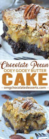 Schokoladen-Pekannuss Ooey Gooey Butterkuchen   – Cake