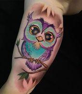 Tatuaje de búho: ideas originales para hombres y mujeres.   – Fantasy