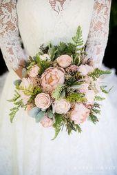 Hochzeitsstrauß, Holz Blumenstrauß, Sola Holz Blume, Pfingstrose Brautstrauß, Andenken Brautstrauß, Faux Brautstrauß, Dahlia Bouquet   – Cascading wedding bouquets