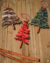 Ribbon Christmas Tree Ornament DIY