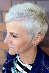 Kurzhaarfrisuren fein Über 60 #FrisurenfürOrdnerinnen – #Frisuren #Frisuren … ,  #frisuren