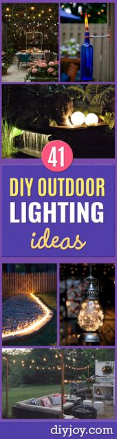 41 DIY Out of doors Lighting Concepts