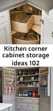 Kitchen corner cabinet storage ideas 102