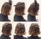Simple hairstyles medium-long hair #flechtfrisuren #longhair #flechtfrisuren #s