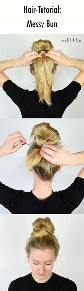 #frisuren #haar #brötchen #messybun #styling   – Haare: Frisuren, Schnitte & Farben
