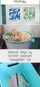 Behavior Bingo: My Favorite Classroom Management Tool – Education