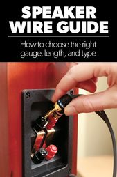 Speaker Wire How To Choose The Right Gauge And Type Speaker Wire Home Theater Speakers Home Theater Setup