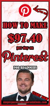 HOW TO MAKE MONEY ON PINTEREST ($100 per day) ∣ HOW TO EARN EXTRA MONEY ∣ DIY TO MAKE MONEY