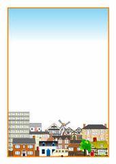 Bearbeitbare Häuser und Wohnungen A4-Seitenränder (SB3640) – SparkleBox – Literacy ideas