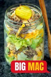 Koolhydraatarme Big Mac salade | Flying Foodie.nl