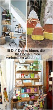 18 DIY Desks Concepts That Will Enhance Your Dwelling Workplace # Secretary # Workplaces,  #Desks #DIY …