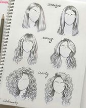 30 amazing hair drawing ideas#amazing #drawing #hair #ideas