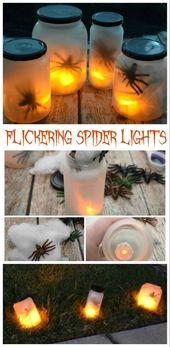 Speichern Sie diese Gläser und radeln Sie sie in diese einfache Halloween DIY: Flickering Spide …