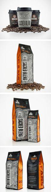 Identidades visuales de café caliente y fresco   – Embalagem