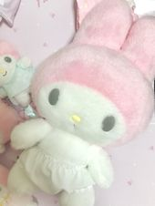 My Melody plushie in white panties