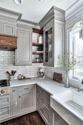30 schöne Küchen-Design-Ideen für das Herz Ihres Hauses #Design #House #Idee