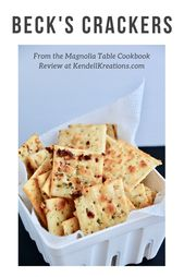 Joanna Gaines share a recipe for Beck's Crackers in the Magnolia Table Cookbook