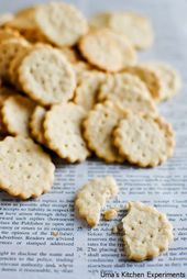 Homemade Ritz Crackers ~ My Kitchen Experiments – …