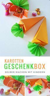 Karotten Geschenkbox selber machen mit Kindern – Ostern – DIY Ideen mit und ohne Wolle