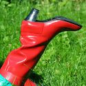 Nokia City red rubberboots