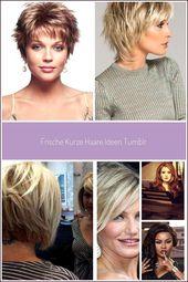 Tolle moderne Damen-Kurzhaarfrisuren schaffen Ideen für kühles dünnes Haar … – Tolle moderne Damen-Kurzhaarfrisuren kre…