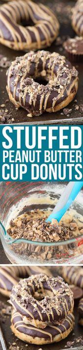 Stuffed Peanut Butter Cup Donuts