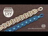Stylized Hearts Arabic Motif Macramé Bracelet Tutorial – YouTube – Erin Chin