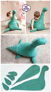 DIY Riesenmonster Spielzeug kostenlos Nähen Muster & Tutorial