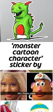 """""""Monster-Cartoon-Charakter"""" Aufkleber von chase kelsall"""