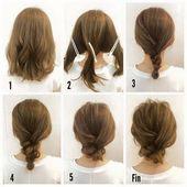 Einfach, Frisuren für mittleres Haar zu tun