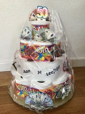 Favoriete Schijt aan je leeftijd taart, 50 jaar Sarah   Geld cadeau #RY42