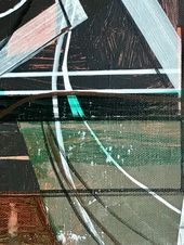 Original Technology Painting by Jim Harris   Abstract Art on Canvas   Dream Hologram Projection Station.