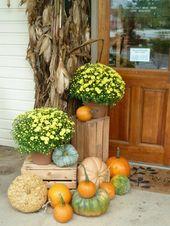Herbstdeko für draußen – 40 stimmungsvolle Ideen zum Nachmachen