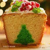 Pastel de revelación de árbol de Navidad   – Backen