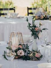 Hochzeits-Tischdeko: 40 wunderschu00f6ne Ideen fu00fcr runde Tische Wir haben