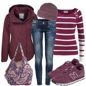 Freizeit Outfits: Purple bei FrauenOutfits.de ____ Freizeit-Oufit für Frauen, c…