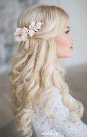Trendy Hochzeitsfrisuren Half Up Half Down Loose Curls Ideen