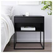 Ikea Nachttisch Schwarz