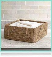 basket and crate – Seegras-Körbe | Kiste und Fass  #basketcrateandbarrel #häus… – Korb und Kiste