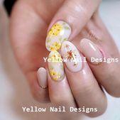 23 Great Yellow Nail Art Designs 2019 #nails #naildesigns   – Little Yellow Cab Nails