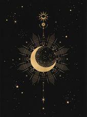 Cocorrina | Liebe diese Illustration! | gold und bla … – #artsy #bla #Cocorrina # …  – schön